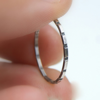 Sterling silver stacking ring, Oxidised Dainty ring, Thin Ring