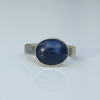 Blue Stone Ring, Sodalite Sterling Silver Ring