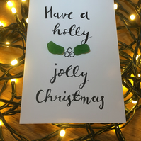 Sea Glass Christmas Card
