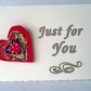 Heart Brooch and gifting card