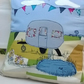 Caravan Holiday Handmade Appliqued Cushion Cover