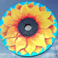 Sunflower window decoration. Handpainted recycled CD. Eco friendly gift