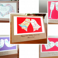 Custom Couples card. Engagement, (Gay) Wedding, Civil Partnership, Handfasting.