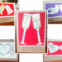 Custom Couples card. Engagement, (Gay) Wedding, Civil Partnership, Handfasting