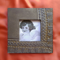 Grey & copper glazed ceramic photo frame no. 10