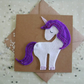 Felt Unicorn Greeting Card