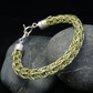 Green & Silver Viking Double Knit Bracelet