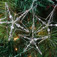 Beaded Wire Star Decorations - set of three