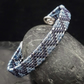 Wire Woven Zigzag Cuff Bracelet - Navy & Light Blue