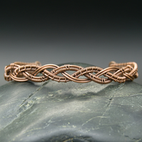 Copper Wire Weave Braided Bracelet