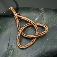 Copper Wire Weave Celtic Knot - Slimline