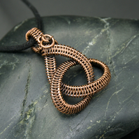 Copper Wire Weave Celtic Knot - Chunky