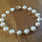 REDUCED - TODAY ONLY - Freshwater pearl and silver bracelet FREE UK POSTAGE