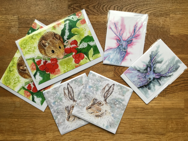 6 x blank cards suitable for Christmas !  Saves 2.50 on single card price