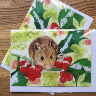 Free UK post - 2 x blank cards suitable for Christmas or other occasions!