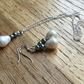 Fabulous baroque freshwater pearl necklace and earrings - free UK postage