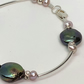 REDUCED- Silver and freshwater pearl bracelet- free UK postage