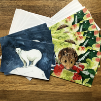 Free UK post  - A5 blank Christmas Cards MULTI PACKS of 2 to 10 cards