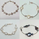 Lucky Dip - 1 sterling silver and freshwater pearl bracelet