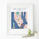 Personalised New York City Map Print