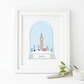 Personalised London Snow Globe Print