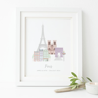 Personalised Paris Print