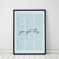 You Got This Wall Print, Office Quote Print