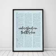 Underestimate Me That'll Be Fun Wall Print, Office Quote Print