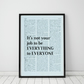It's Not Your Job To Be Everything To Everyone Wall Print, Office Quote Print