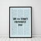 We Do Things Differently Here Wall Print, Office Quote Print
