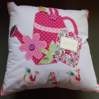 Pretty Nan Applique Cushion