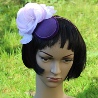 Lilac, Pink and Purple Floral Fascinator