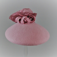 Dusky Pink Button Fascinator