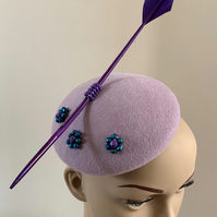 Lilac Felt Cocktail Hat