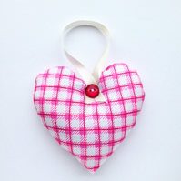 Lavender scented hanging heart decoration