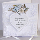 Handmade Personalised 3D Wedding Card
