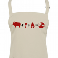 COW & CLEAVER & FIRE - BURGER- meat loving kitchen chef unisex apron  - AA1329