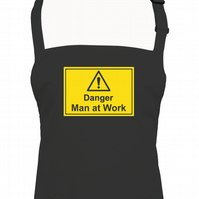 Danger. Man at Work- Funny Male Kitchen Disaster apron - AA1279