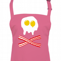 EGG AND BACON Skull & Crossbones- cool graphic print unisex apron  -AA1283