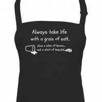 Always Take Life With a Grain Of salt, and Lemon & Tequila Unisex apron - AA1322