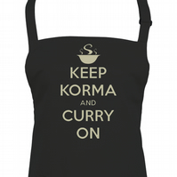 Keep Korma & Curry On- funny Indian cuisine unisex apron - AA1383