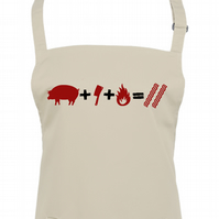 PIG - CLEAVER - FIRE  Bacon- meat loving kitchen chef unisex apron  - AA1395