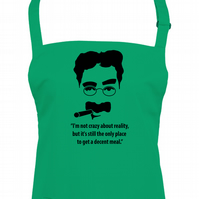 Only place to get a decent meal - Funny GROUCHO Marx Quote Unisex apron  -AA1762