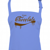 ENJOY CHOCOLATE- famous fizzy drink parody, chocoholic Unisex apron  -AA1202