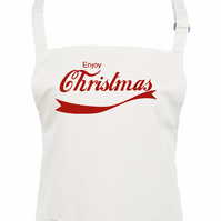 ENJOY CHRISTMAS- Funny spoof brand parody crimbo  apron AA2183