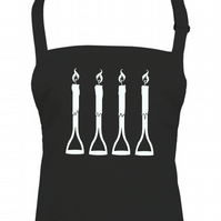 FORK Handles or FOUR Candles - Comedy inspired apron - AA1310