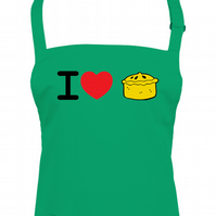 I LOVE PIE, crusty pastry loving unisex kitchen apron  - AA1377