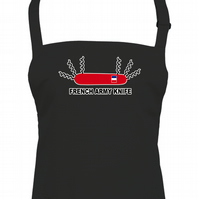 FRENCH ARMY KNIFE- Swiss knife but only corkscrews unisex apron - AA1373