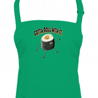 ROLL WITH IT - sushi making roll Unisex apron  - AA1324