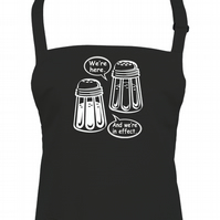 Salt n' Pepper's Here - And they're in effect-  Unisex Apron -AA1160